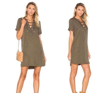 Lovers + Friends | Moss Waterfront Lace Up Dress L